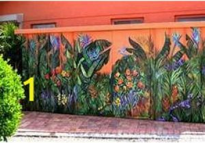 Outdoor Wall Murals for Schools Painted Flowers On A Fence Fences