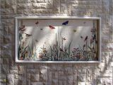Outdoor Wall Murals Posters butterflies Mosaic for An Outside Wall