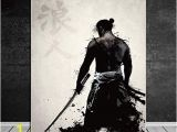 Outdoor Wall Murals Posters Firsgt Samurai Canvas Oil Painting Modern Wall Art