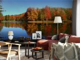 Outdoor Wall Murals Wallpaper Stunning Autumn Lake Mural From Grafix S Etsy Page