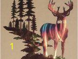Outdoor Wildlife Wall Murals $200 Whitetail Buck Deer W Mountain & Trees Metal