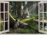 Outdoor Wildlife Wall Murals Behangrollen 3d Hole In Wall Children Fairytale Enchanted