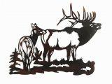 Outdoor Wildlife Wall Murals Elk Metal Wall Art This Stunning Metal Wall Sculpture Makes