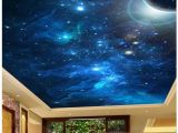 Outer Space Ceiling Murals 3d Mural Wallpaper Custom Photo Wallpaper 3d Stereo Romantic