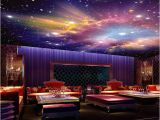 Outer Space Ceiling Murals Custom Mural 3d Star Nebula Night Sky Wall Painting Ceiling Smallpox