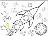 Outerspace Coloring Pages A Rocketship Flies by A Planet and Through the Stars In This