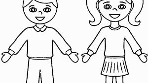 Outline Of A Boy and Girl Coloring Pages Coloring Page Boy and Girl Coloring Home