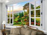 Outside Murals for Walls Custom Mural Wallpaper Outside the Window Pastoral Path Nature