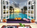 Outside Murals for Walls Wall Mural Wallpaper Scenery Outside the Window Custom