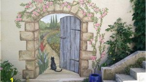 Outside Murals Ideas Secret Garden Mural Painted Fences Pinterest