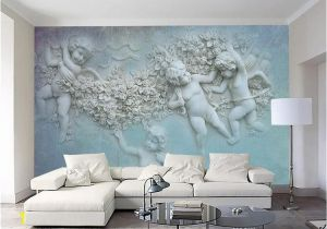 Oversized Wall Murals 3d European Small Angel Cupid Tv Background Wall Custom Wall