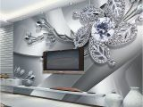 Oversized Wall Murals Custom Any Size 3d Wall Mural Wallpaper Diamond Flower Patterns