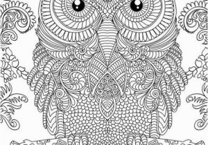 Owl Coloring Pages for Adults to Print Owl Doodle Art Hard Coloring Page Free to Print for Grown Ups