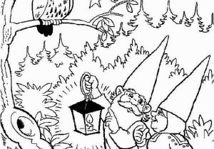 Owl In A Tree Coloring Page David the Gnome and Lisa Found An Owl Up Tree Free Printable