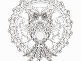 Owl Mandala Coloring Pages for Adults Mandala Owl M&alas Adult Coloring Pages