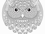 Owl Mandala Coloring Pages for Adults Owl Adult Mandala Coloring Page