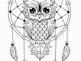 Owl Mandala Coloring Pages for Adults Unique Owl Dreamcatcher Mandala Mandalas with Animals