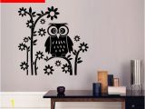 Owl Peel and Stick Wall Mural Decorate Home Flower Owl Cartoon Art Wall Sticker Decoration Decals Mural Painting Removable Decor Wallpaper G 2053 In This Home Wall Decal