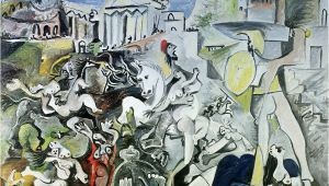 Pablo Picasso Mural the Rape Of the Sabine Women by Pablo Picasso