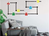 Pac Man Wall Mural Amazon Pacman Game Wall Decal Retro Gaming Xbox Decal