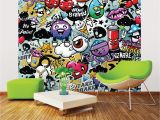 Pac Man Wall Mural Ohpopsi Graffiti Monster Wall Mural Wals0004