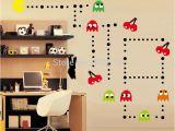 Pac Man Wall Mural Tanie Ładny Naklejka Pacman Zestaw Retro Vinyl Mural