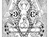 Pagan Witch Coloring Pages for Adults Coloring Page for Adults Samhain Halloween Goddess Coloring