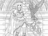 Pagan Witch Coloring Pages for Adults Digital Stamp Printable Coloring Page Witch Stamp Adult