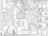 Pagan Witch Coloring Pages for Adults Fantasia – Witch