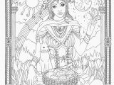 Pagan Witch Coloring Pages for Adults Goddess Coloring Page