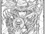 Pagan Witch Coloring Pages for Adults Witch Coloring Page