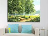 Paint by Number Wall Mural Kits Adults Oil Painting by Numbers Diy Digit Kits Coloring forest Road Canvas Home Decor Wall Abstract Tree Scenery Framework