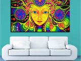 Paint by Number Wall Murals for Adults 2019 Canvas Wall Art Pcs Psychedelic Mandala Abstract