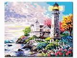 Paint by Number Wall Murals for Adults Aion Line Diy Painting by Numbers Kits Drawing Lighthouse