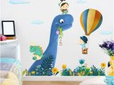 Paint by Number Wall Murals Nursery Dinosaur Kids Rooms Home Decor Wall Sticker Cartoon Animal Painting for Baby Room Nursery Decals Posters and Prints Wall Picture Y Wallpaper