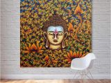 Paint by Numbers Wall Murals 2019 1 Panel Buddha Head Oil Painting Printed Canvas Wall Art