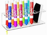 Paint Pens for Wall Murals Clear Acrylic Wall Mountable 10 Slot Dry Erase Marker & Eraser