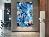 Painted Bathroom Wall Murals Abstract Painting original Painting Large Interior Art