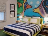 Painted Bedroom Wall Murals Hand Painted Fish Wall Mural