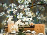Painted Floral Wall Murals Oil Panting Cherry Blossom Floral Wall Mural Wallpaper Hand Painted Branch Cherry Blossom Wall Mural Flowers Wall Mural for Wall Decor