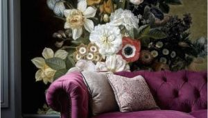 Painted Floral Wall Murals Removable Wallpaper Floral Wall Mural Peel and Stick