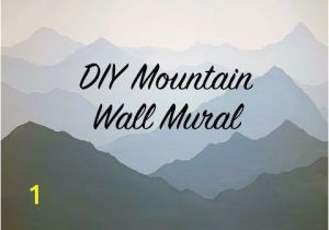 Painted Mountain Wall Mural How to Paint A Mountain Mural On Your Bedroom or Nursery