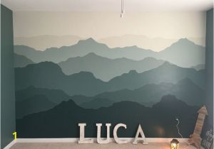 Painted Mountain Wall Mural Mountain Mural Nursery Wall