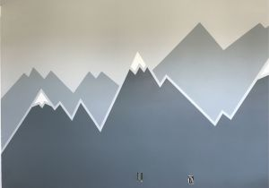 Painted Mountain Wall Mural Mountain Wall Mural In 2019