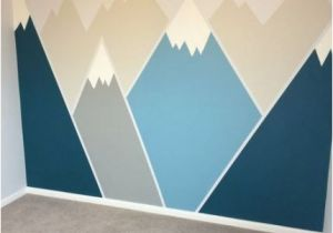 Painted Mountain Wall Mural Painting Walls Ideas for Kids Playrooms 61 Best Ideas