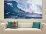 Painted Ocean Wall Murals 2019 Paintings for Living Room Wall Paintings Canvas Ocean Waves Oil Painting Wall No Frame From Wallstickerworld $27 73