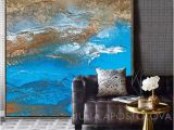 Painted Ocean Wall Murals Two Ocean Paintings Blue Wall Art Set Of 2 Canvas Prints Abstract Painting Extra Wall Art Coastal Landscape Contemporary Art