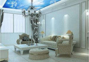 Painted Wall Mural Ideas for Living Room Custom Murals 3d Blue Sky Ceiling Wallpaper Mural Wall