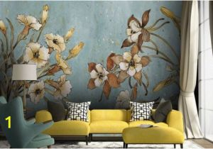 Painted Wall Mural Ideas for Living Room Vintage Floral Wallpaper Retro Flower Wall Mural Watercolor