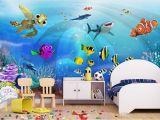 Painted Wall Murals for Kids 3d Wallpaper Custom Mural Sea World Children Room Scenery